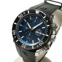 Edox Chrono Offshore 1 01115-3-buin Watches Stainless Steel/rubber Mechanic...