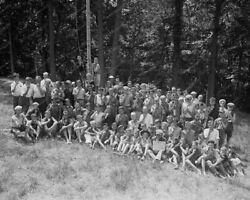 Boy Scouts Camp Roosevelt  Group Professional Photo Lab Reprint