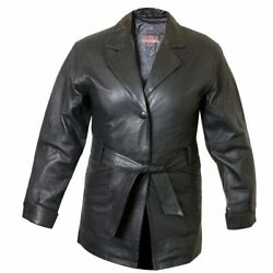 Ladies Lucky Leather 199 Soft Touch Supple Lambskin Leather Coat With 2 Button C