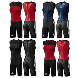 Adidas Adipower Powerweb Suit Athletics Weightlifting One Piece Overalls New