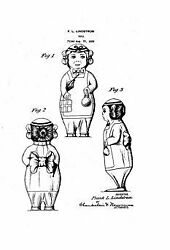 Us Patent Print Lindstrom Betty Wind Up Toy 1920's Document