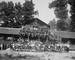 Boy Scouts At Camp Roosevelt 1920 8x10 Reprint Of Old Photo