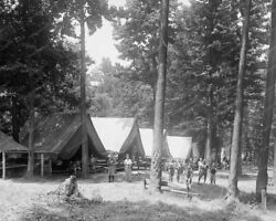 Boy Scouts Camp Roosevelt 1920s Vintage 8x10 Reprint Of Old Photo