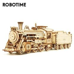 Robotime Train Model 3d Wooden Puzzle Toy Collectible Kids Birthday Gift Toys