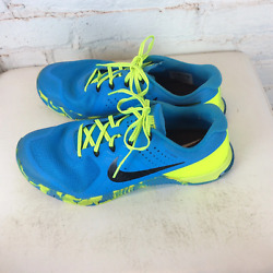 Nike Flywire Yellow And Blue Running Shoes | 11