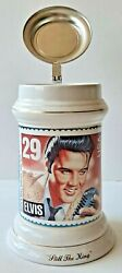 Elvis Presley In Army Collectible Beer Stein Mug 5284 W/papers