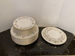 """12 Wedgwood Mirabelle Salad 8 And 10.8"""" Dinner Plate Set Bone China England R4537"""