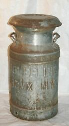 Antique Dairymenand039s League S. Adler Inc. Bronx N.y. 20 Dairy Milk Can - Nice