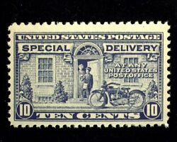Hsandc Scott E12 10 Cent Special Delivery Mint Fvf/xf Nh Us Stamp