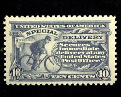 Hsandc Scott E11 10 Cent Special Delivery Mint Vf/xf Nh Us Stamp