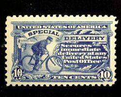 Hsandc Scott E9 10 Cent Special Delivery Mint Vf/xf Lh Us Stamp