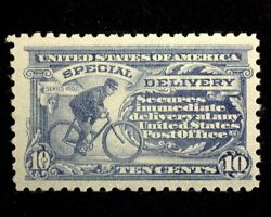 Hsandc Scott E10 10 Cent Special Delivery Mint F/vf Lh Us Stamp