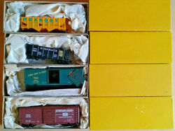 Ho Scale Accurail 4 Freight Car Lot Cog, Tpandw Boxcar Interstate, Peabody Hopper