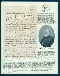 Usa 1864 Colorado Territory Civil War Booneville Ag Boone Postmaster Lette 92839