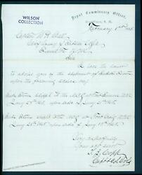 Usa 1865 New Mexico Fort Union Civil War Army Letters Territory Contents 92819