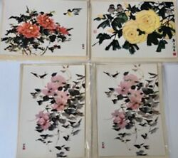 Rare Large Chinese Greeting Cards. 1940's. Collection Of 8 Artist Reproductions