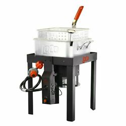 Loco Cookers Propane 12 Quart Fish Fryer With Sure Spark Heavy Duty Welded Stand