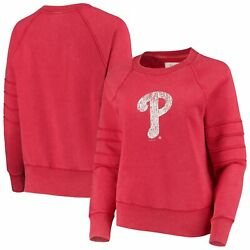 Philadelphia Phillies Touch Womenand039s Bases Loaded Scoop Neck Sweatshirt - Red