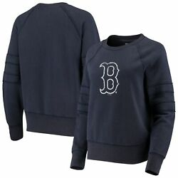 Boston Red Sox Touch Womenand039s Bases Loaded Scoop Neck Sweatshirt - Navy