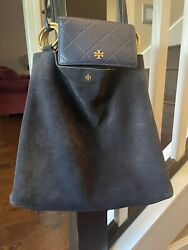 Tory Burch Suede Bag and Leather Wallet $200.00