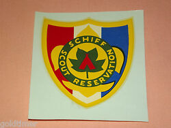 Vintage Bsa Boy Scouts Of America Schiff Scout Reservation  Decal Sticker