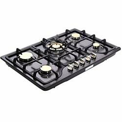 30 Inch Gas Cooktops Lpg/ng Dual Fuel Gas Cooktop 5 Sealed Brass Dk257b-c01
