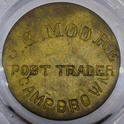 1870and039s Rare Indian Post Trader Token Of Wyoming Territory In Camp Brown