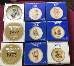 Mj Hummel 1971-1979 Full Size Plates With Boxes West Germany
