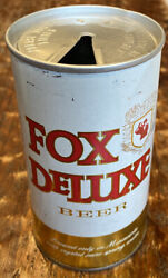 Fox Deluxe Pull Tab Beer Can Cold Spring Brg. Co. Cold Spring, Mn. Top Opened
