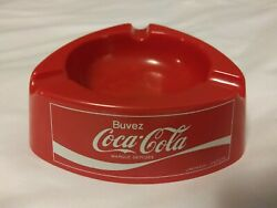 Vintage French Buvez Coca-cola Ashtray P2 Mebel Made In Italy Plastic Retro Red