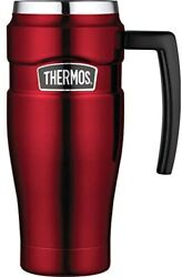 Thermos Stainless King 473ml Travel Mug With Handle 16oz Red Sk1000crtri4
