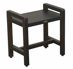 Classic 20 Teak Shower Bench With Liftaide Arms- Adustable Height Foot Pads-...