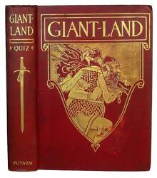 1909 1st Giant-land By Roland Quiz Fairy Tales Illustrated In Color Antique Rare