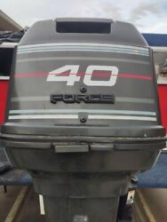 1994 40hp 2-stroke Force By Mercury Marine Boat Motor W/controls And More