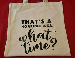 Cotton Canvas Printed Tote Bags Cute Sayings 16quot; x 14quot; $7.00