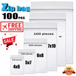 Zip Lock Plastic Bag Small 100pcs Pack Thick Clear Pack Age Lock Plastic Bags $9.90