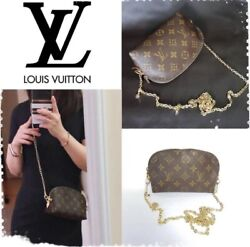 💝Authentic Louis Vuitton Cosmetic Pouch Crossbody Good Condition❤️ $345.00
