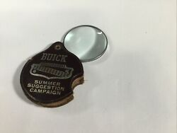 Vtg 1940 1950 Buick Summer Suggestion Campaign Folding Magnifying Glass Key Fob