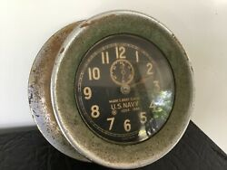 Old Chelsea 1940 Boat Clock Chrome Bronze Or Brass Small Version Serial No.1084