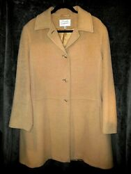 Saxton Hall Womenand039s 100 Real Camel Hair Long Overcoat Size 16 Stunning