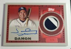 2021 Topps Series 2 Johnny Damon Reverence Patch Autograph Trapjd 4/5 Red