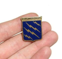 Ww2 Us Army Air Corps 16th Pursuit Group Dui Di Crest Pin Distinctive Insignia