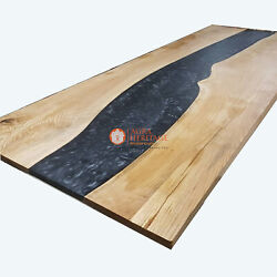 Handmade Epoxy Resin Big Conference Dining Table Top Acacia Wooden Home Decors