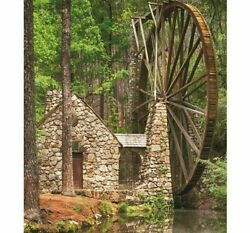 Diamond Painting Water Windmill House In The Forest Design Embroidery Decoration