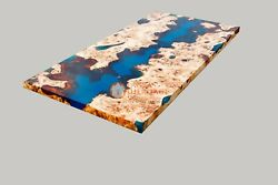 Acacia Wooden Epoxy Table Coffee /dining Top   Dining Table Top   River Table