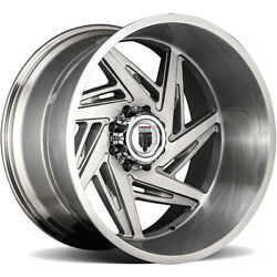 2 American Truxx Spiral At1906 Wheel 24 Brushed 24x14 8 X 165.1 -76mm 7 Spoke