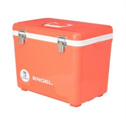 Engel 19 Quart 32 Can Leak Proof Odor Resistant Insulated Cooler Drybox Coral $59.00