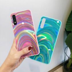 For Samsung S20 Ultra Note 10 A51 A71 4g Gradient Rainbow Laser Phone Case Cover