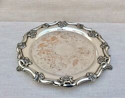Superb George Iii Georgian Old Sheffield Plate 12andrdquo Repousse Footed Salver C1800