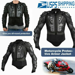 Motorcycle Full Body Armor Jacket Spine Chest Shoulder Protection Riding Gearus